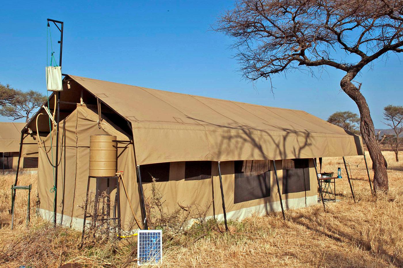 Ein Zelt im Kati Kati Tented Camp