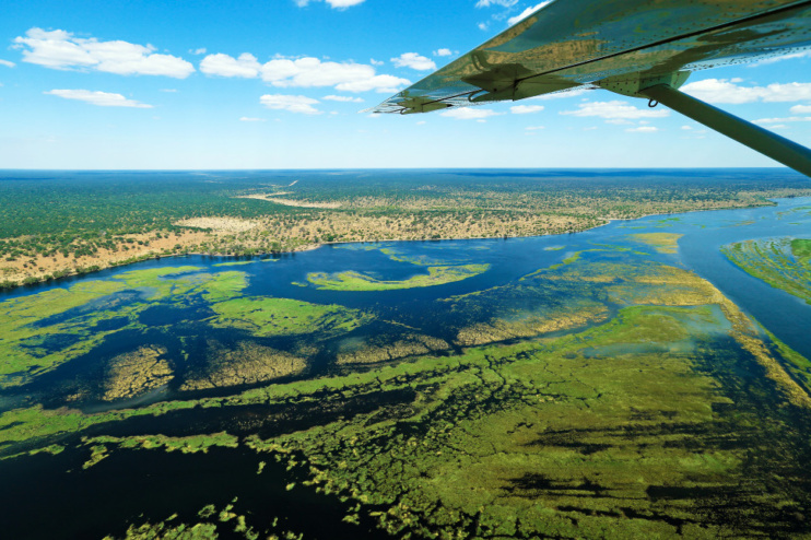 Fly In im Okavango Delta