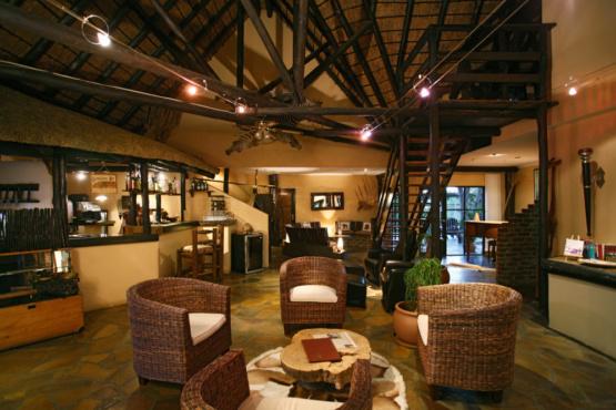 Lounge der Immanuel Wilderness Lodge