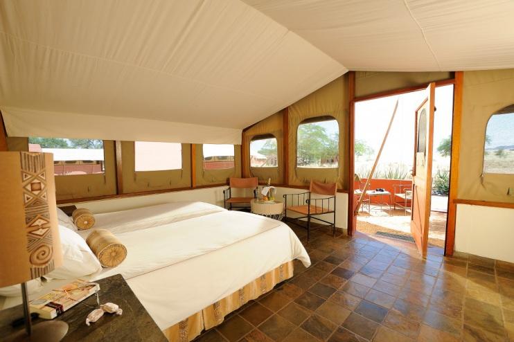 Sossusvlei Lodge, Zimmerbeispiel