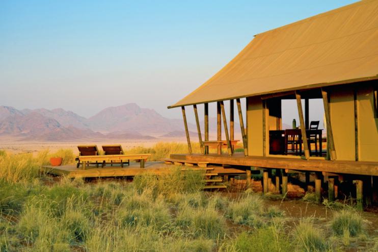 Außenansicht Wolwedans Dunes Camp