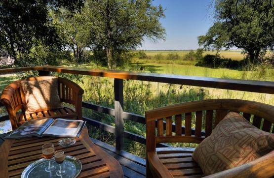 Camp Moremi: Blick aufs Delta