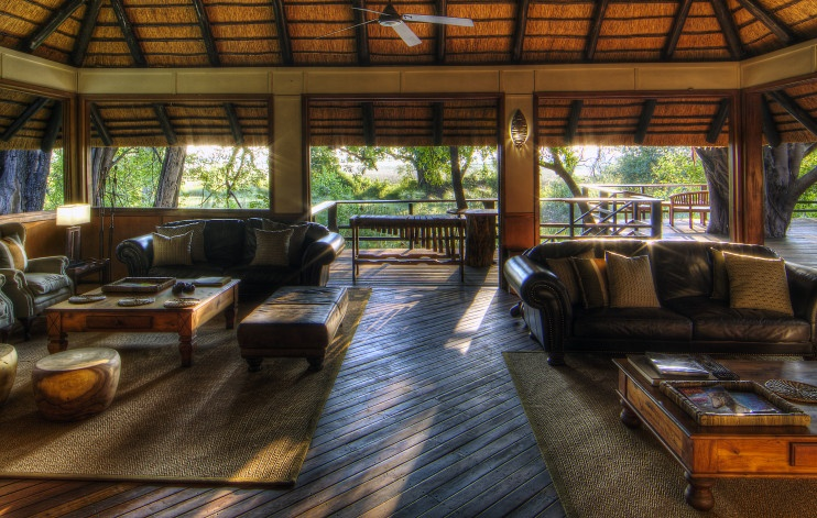 Camp Moremi: Lounge