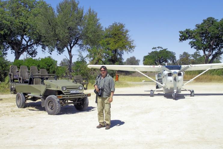Flug zum Kwando Lagoon Camp, Chobe-Nationalpar, Botswana