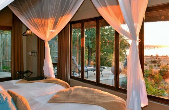 herrliche Aussicht aus einer Suite der Ngoma Safari Lodge