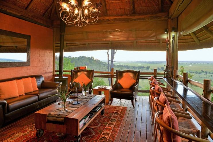Lounge mit tollem Ausblick, Ngoma Safari Lodge