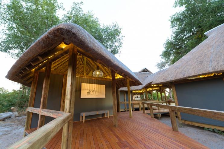 Splash Camp, Kwando, Eingangsbereich