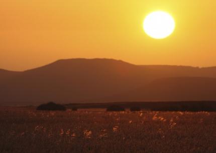 Sonnenuntergangsstimmung Damaraland