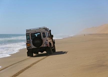 Mit dem Landrover an Namibias Küste entlang