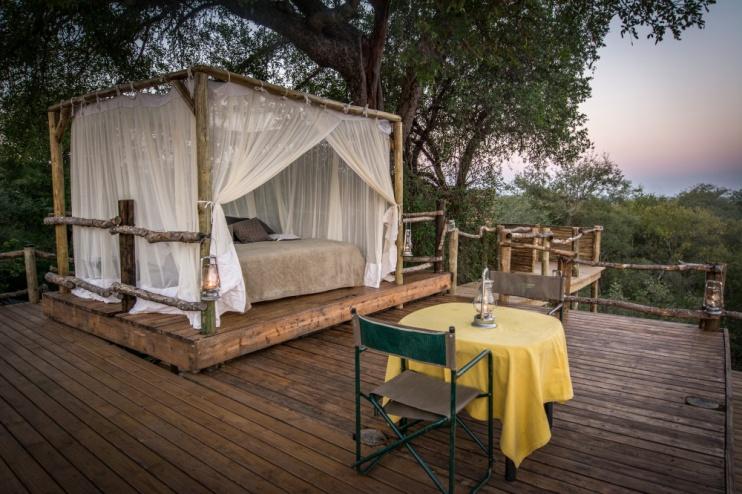 Garonga Safari Camp, Übernachtung in der Natur