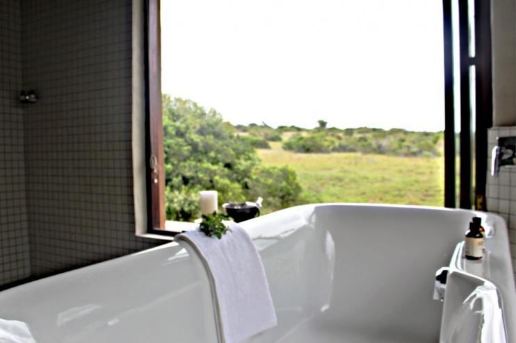 Badezimmer mit Ausblick