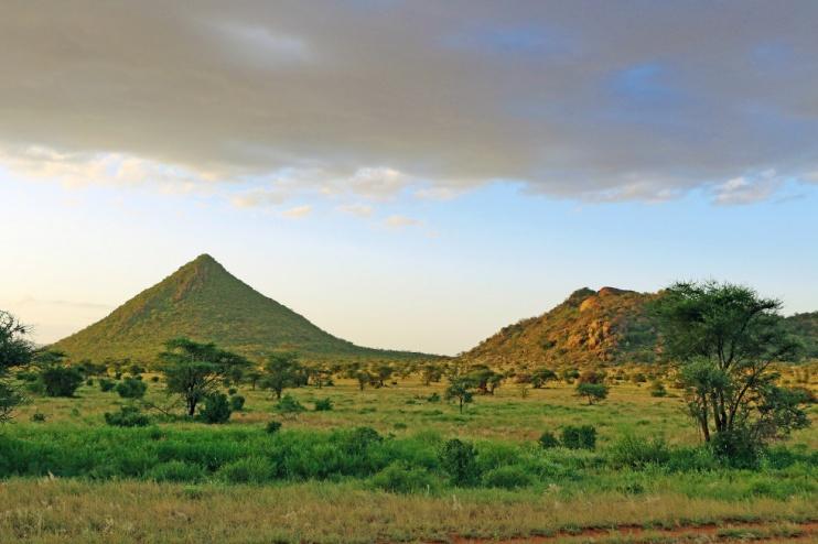 Die Landschaft im Samburu Reservat