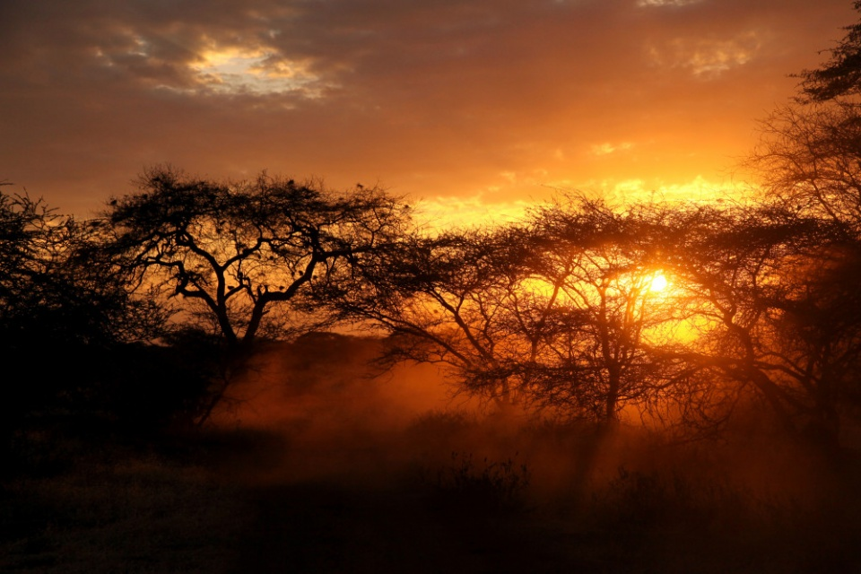 Kenia, Sonnenuntergang