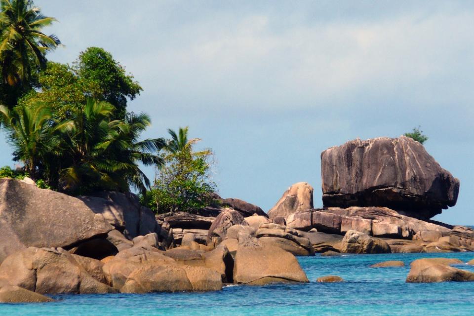 Schöne Bucht der Insel Mahé