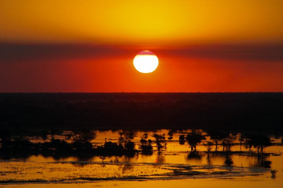Sonnenuntergang in Botswana
