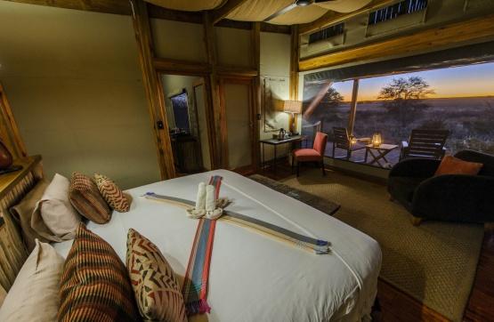 Kalahari Plains Camp, Unterkunftsbeispiel