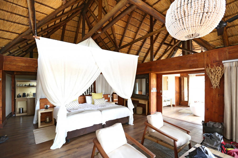 Open Bedroom Beispiel in Botswana