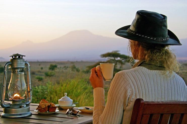 Frühstück im Tortilis Camp Amboseli