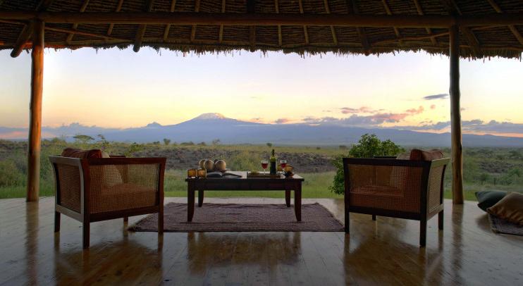 Aussicht im Tortilis Camp Amboseli