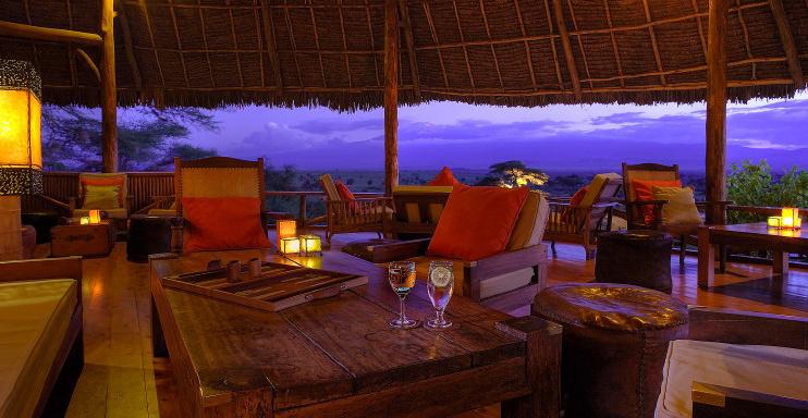 Lounge im Tortilis Camp Amboseli