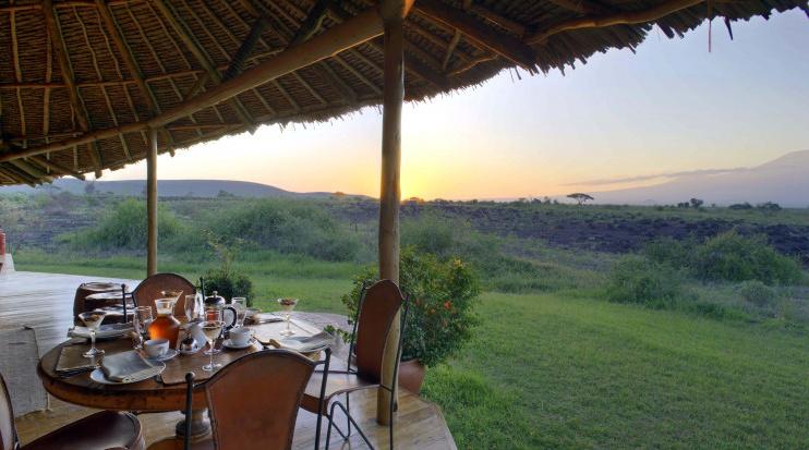 Ausblick im Tortilis Camp Amboseli