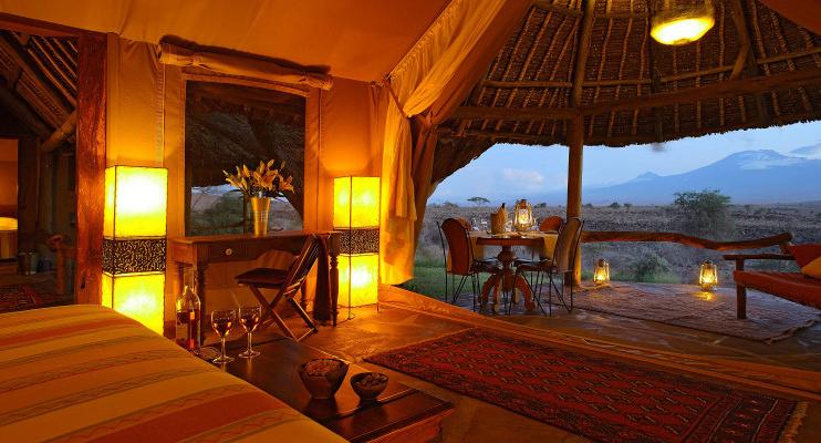 Zelt im Tortilis Camp Amboseli