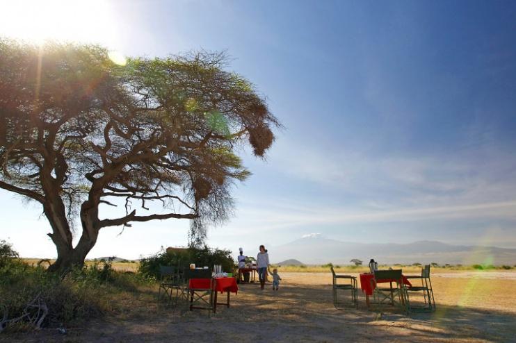 Buschfrühstück im Tortilis Camp Amboseli