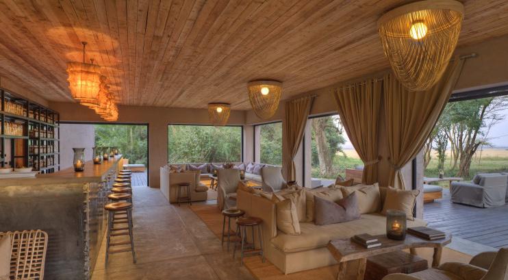 Bar & Lounge im Kichwa Tembo Tented Camp