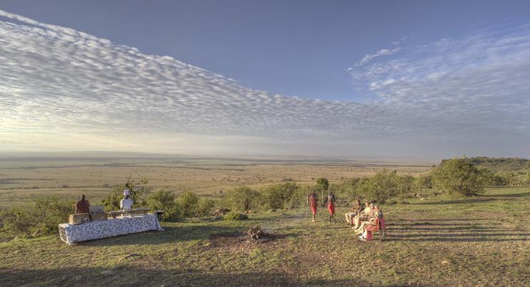 Buschpicknick im Kichwa Tembo Tented Camp