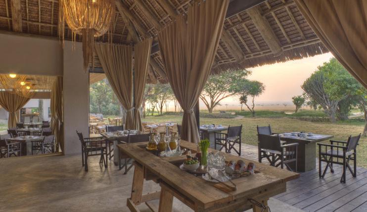 Restaurant im Kichwa Tembo Tented Camp
