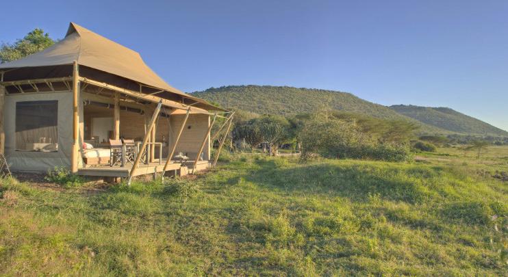 Zelt im Kichwa Tembo Tented Camp