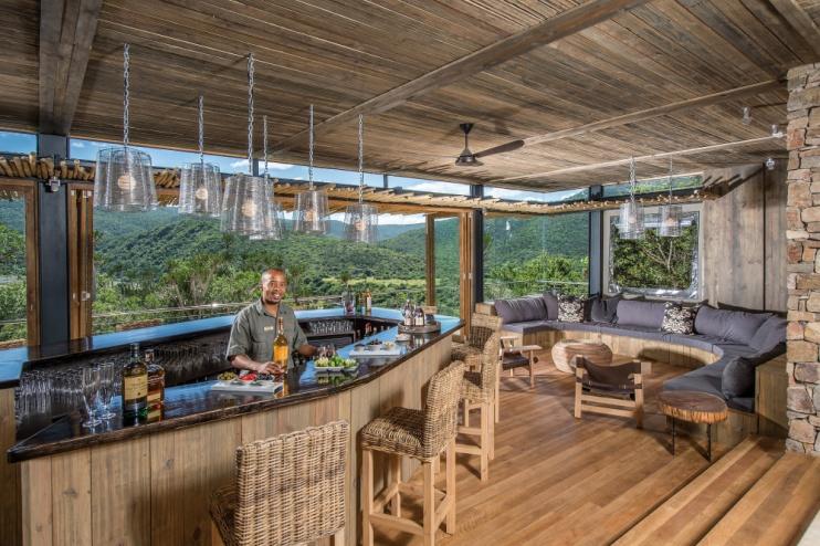 Die Bar von der Kariega Settlers Drift Lodge