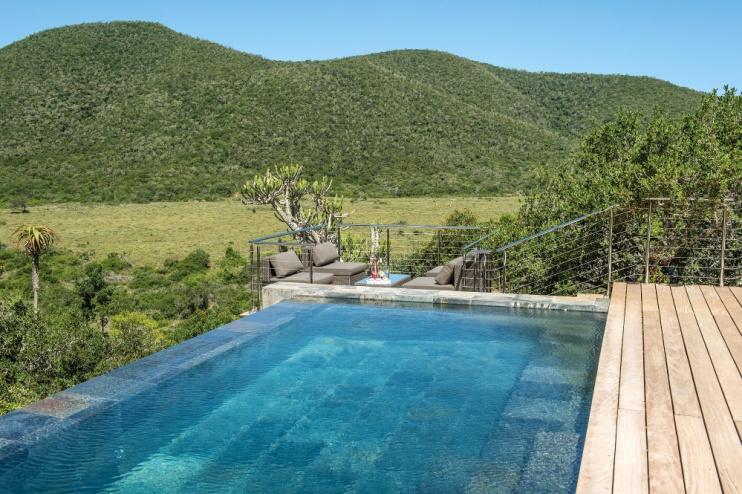Pool von der Kariega Settlers Drift Lodge