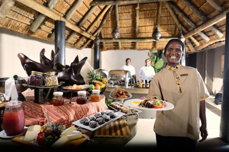 Restaurant in der Sabi Sabi Bush Lodge