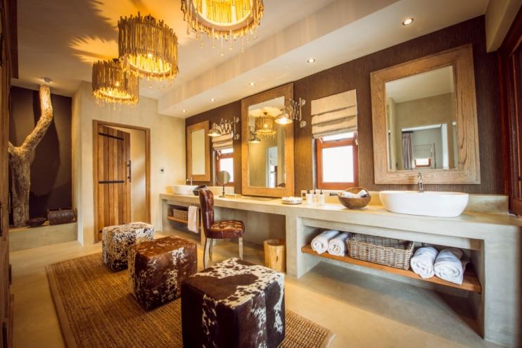 Ankleidezimmer in der Luxury Villa der Sabi Sabi Bush Lodge