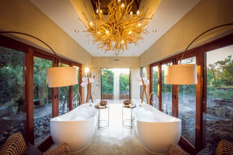 Badezimmer in der Luxury Villa der Sabi Sabi Bush Lodge