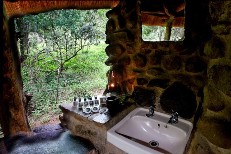 Stone Camp Swasiland, Badezimmer