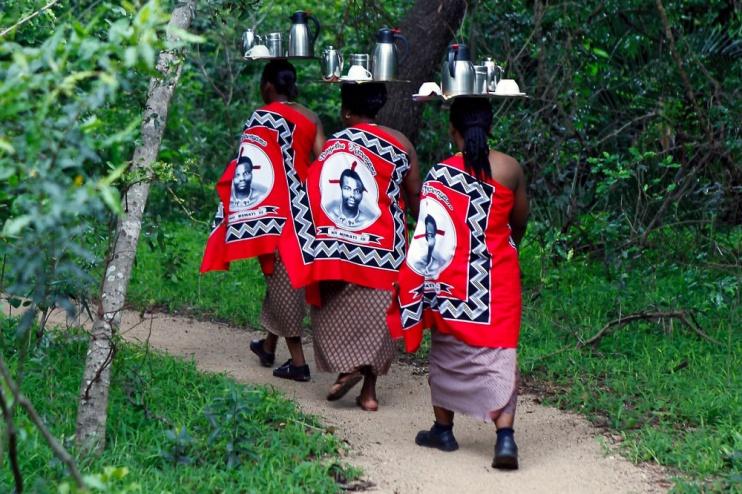 Morgenkaffee im Stone Camp Swasiland