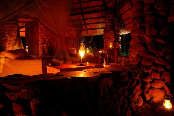 Zimmer im Stone Camp Swasiland, Mkhaya Game Reserve