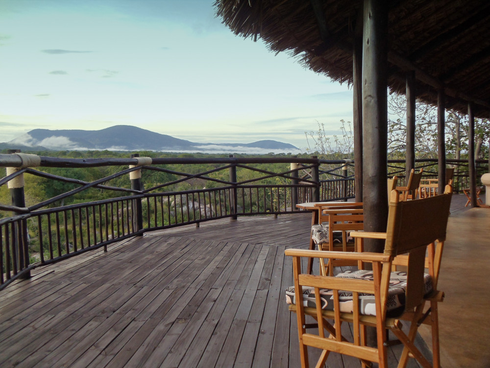 Ruaha River Lodge Terrasse