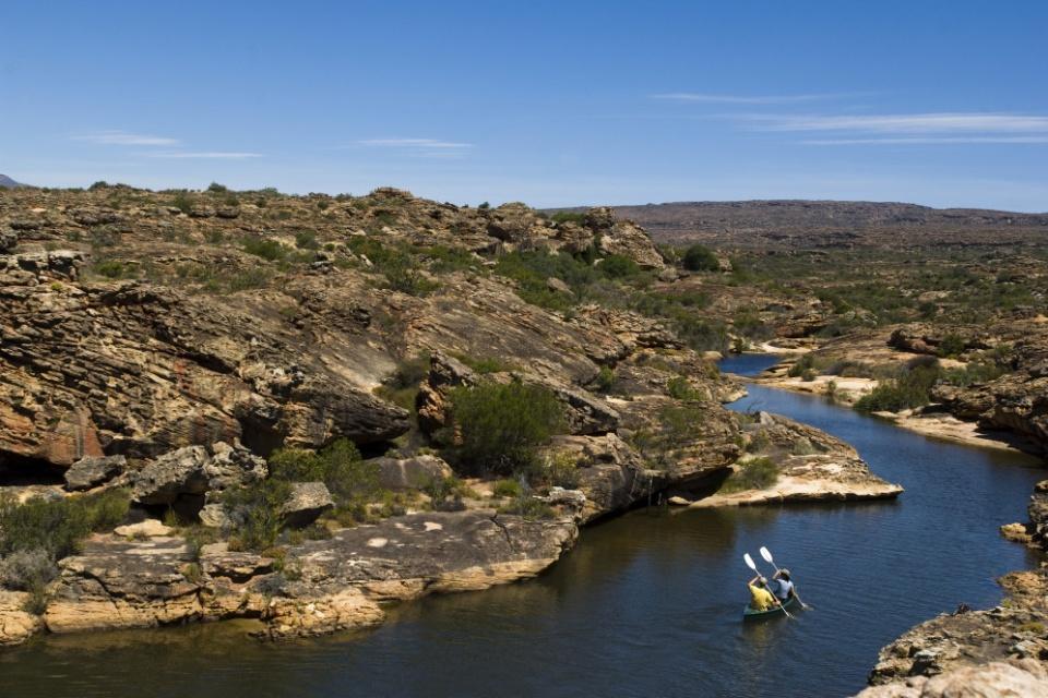 Kanu fahren bei Bushmanskloof