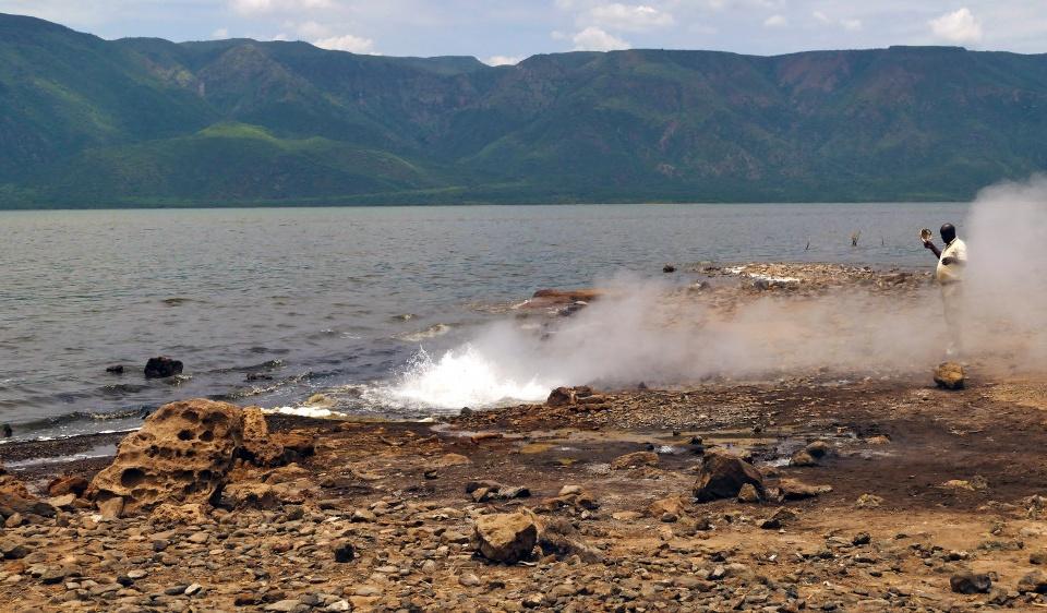 Heiße Quelle am Bogoria See