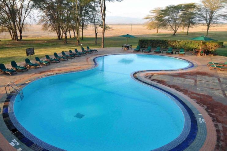 Pool der Ol Tukai Lodge