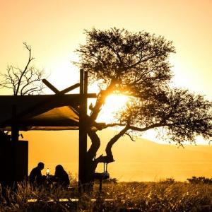 Abendstimmung im Desert Camp