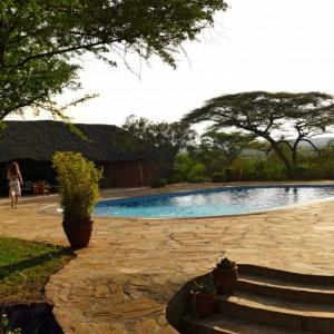 Poolbereich der Lodge