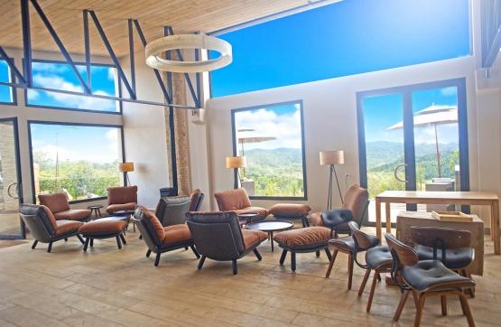 Loungebereich in der Mantadia Lodge