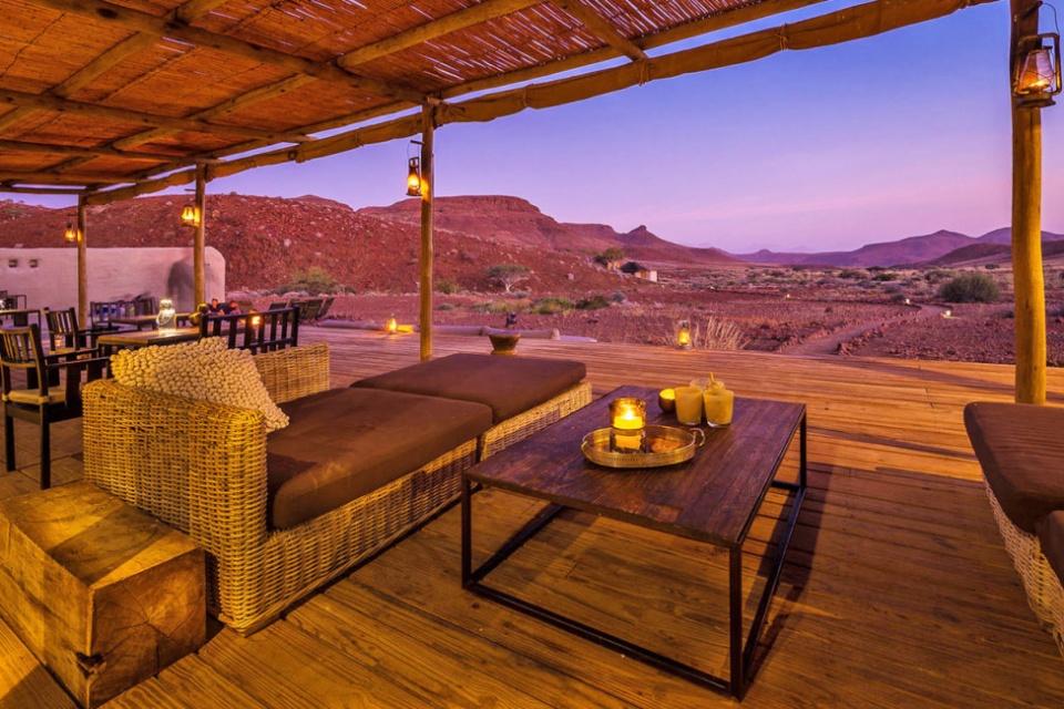 Terrasse im Damaraland Camp