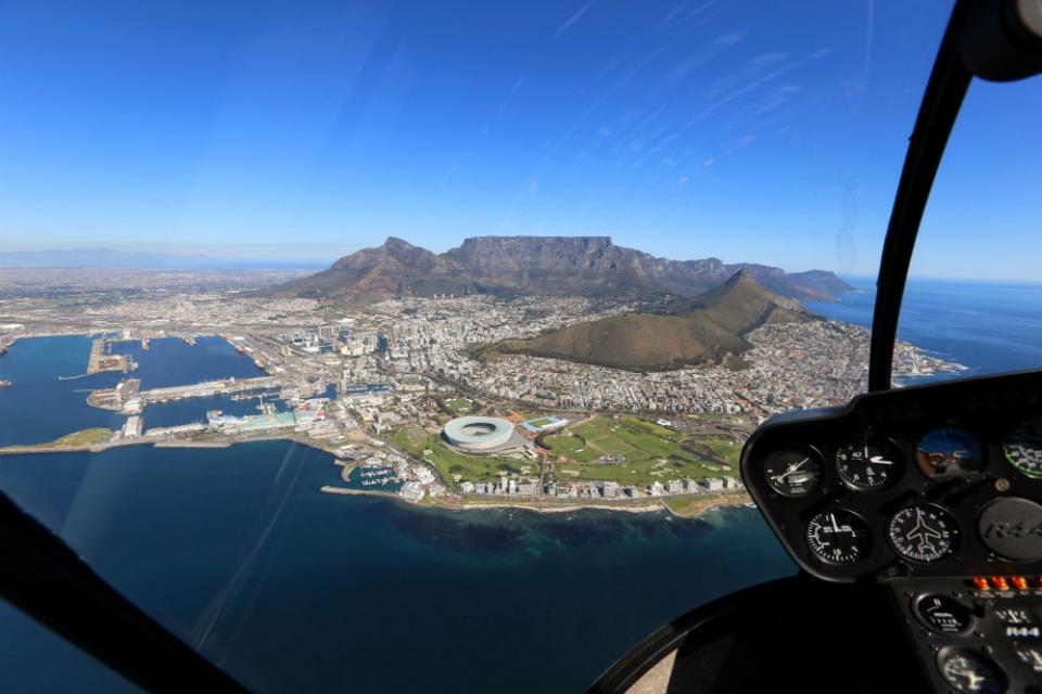 Hubschrauberflug über die Kap-Halbinsel, Kapstadt