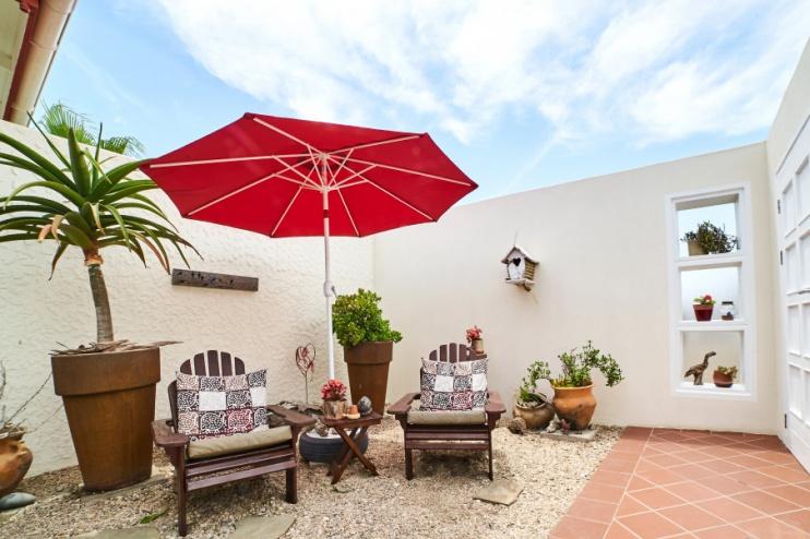Terrasse bei Meike's Guesthouse