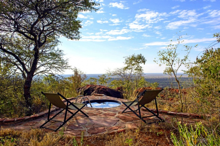Privater Pool in der Waterberg Plateau Lodge